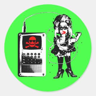 Attack of the Techno-Bimbos!!! Round Sticker