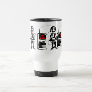Attack of the Techno-Bimbos!!! Travel Mug