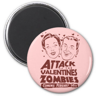 Attack of the Valentines Zombies 2 Inch Round Magnet