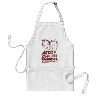 Attack of the Valentines Zombies Adult Apron