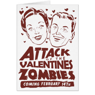 Attack of the Valentines Zombies Customizable Card