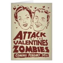 Attack of the Valentines Zombies Greeting Cards