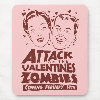 Attack of the Valentines Zombies Mouse Pad