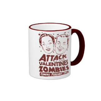 Attack of the Valentines Zombies Ringer Coffee Mug
