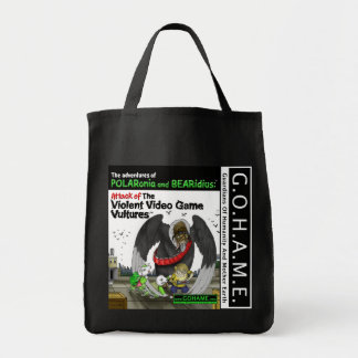 Attack of The Violent Video Game Vultures Tote Bag