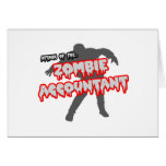 Attack of the Zombie Accountant Greeting Card