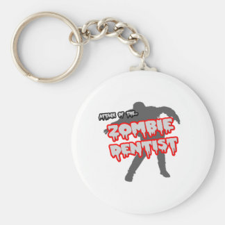 Attack of the Zombie Dentist Basic Round Button Keychain