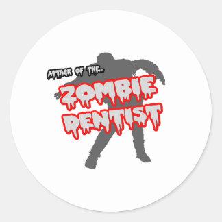 Attack of the Zombie Dentist Classic Round Sticker