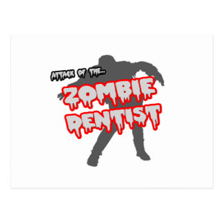 Attack of the Zombie Dentist Postcard