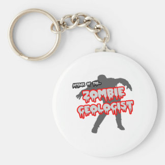 Attack of the Zombie Geologist Basic Round Button Keychain