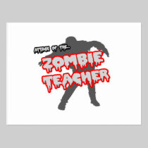 Attack of the Zombie Teacher Postcard