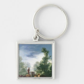 Attack on a Coach, 1787 Keychain