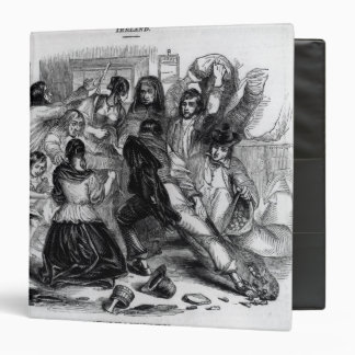 Attack on a Potato Store in Ireland, c.1845 3 Ring Binder