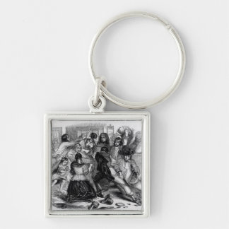Attack on a Potato Store in Ireland, c.1845 Keychains