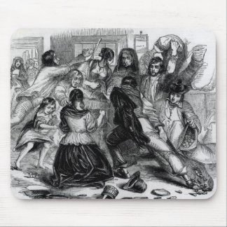 Attack on a Potato Store in Ireland, c.1845 Mousepads