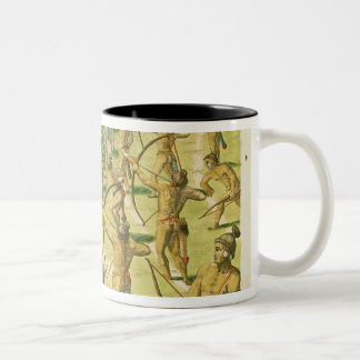 Attack on an Indian Village Two-Tone Coffee Mug