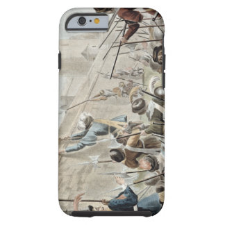 Attack on Boulogne-Sur-Mer, engraved by Jean Bapti Tough iPhone 6 Case