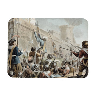 Attack on Boulogne-Sur-Mer, engraved by Jean Bapti Magnet