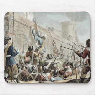 Attack on Boulogne-Sur-Mer, engraved by Jean Bapti Mouse Pad