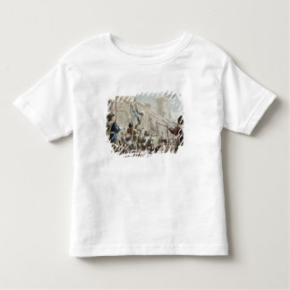 Attack on Boulogne-Sur-Mer, engraved by Jean Bapti T-shirt
