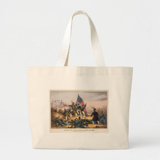 Attack on Chapultepec Mexican American War Canvas Bags