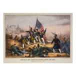 Attack on Chapultepec Mexican American War Posters