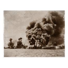 Attack on Pearl Harbor Postcard