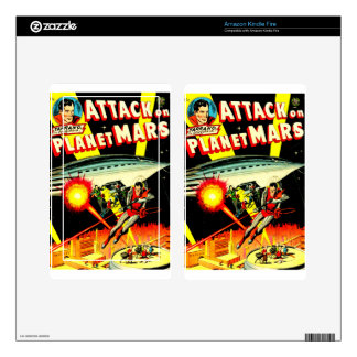 Attack on Planet Mars Kindle Fire Decals