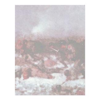 Attack On Smardan (Study) By Grigorescu Nicolae Custom Letterhead