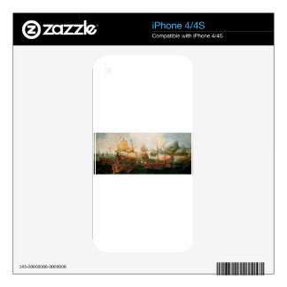 Attack on Spanish Treasure Galleys, Portugal Skin For iPhone 4S