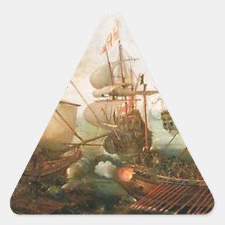 Attack on Spanish Treasure Galleys, Portugal Triangle Sticker