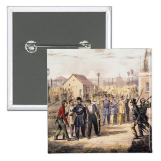 Attack on the Barriere Fontainebleau Pinback Button