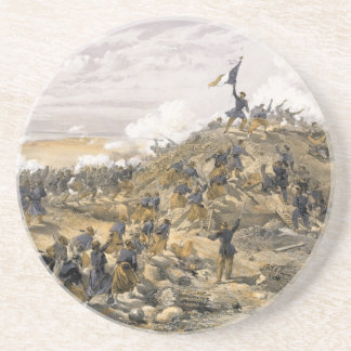 Attack on the Malakoff by William Simpson Coasters