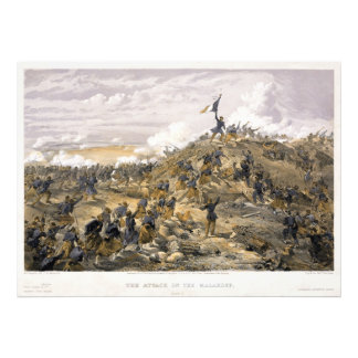 Attack on the Malakoff by William Simpson Art Photo