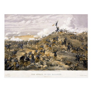 Attack on the Malakoff by William Simpson Postcard