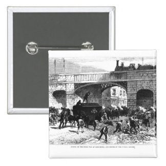 Attack on the Prison Van at Manchester 2 Inch Square Button