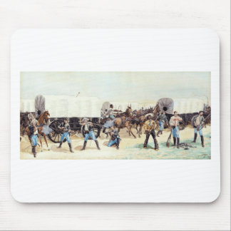 Attack on the Supply Train by Frederic Remington Mouse Pad