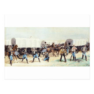 Attack on the Supply Train by Frederic Remington Postcard