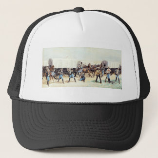 Attack on the Supply Train by Frederic Remington Trucker Hat