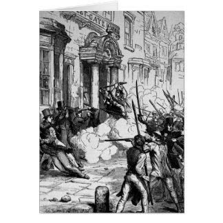Attack on the Westgate Hotel, Newport Greeting Card