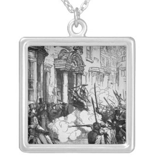 Attack on the Westgate Hotel, Newport Square Pendant Necklace