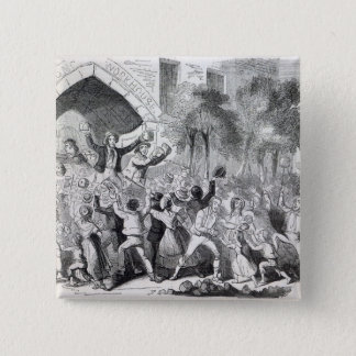 Attack on the Workhouse at Stockport in 1842 Button