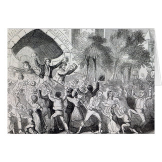 Attack on the Workhouse at Stockport in 1842 Card