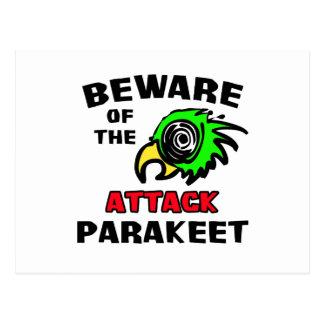 Attack Parakeet Post Card