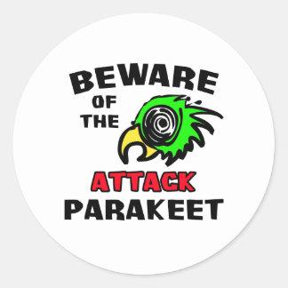 Attack Parakeet Stickers