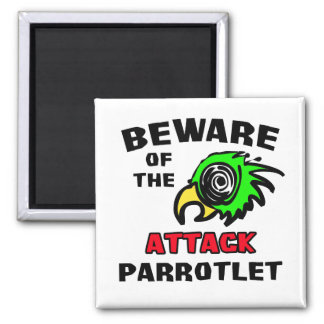 Attack Parrotlet 2 Inch Square Magnet