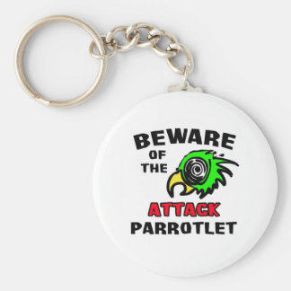 Attack Parrotlet Basic Round Button Keychain