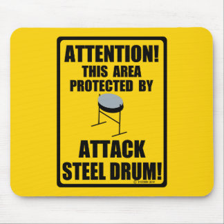 Attack Steel Drum Mouse Pad