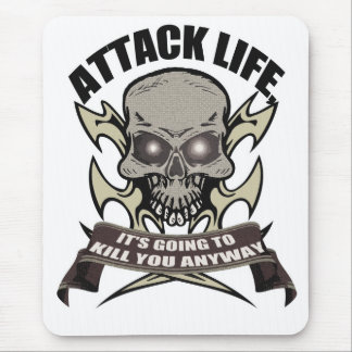 Attack t-shirt mouse pad