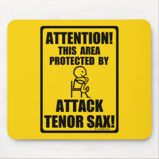 Attack Tenor Sax Mouse Pad